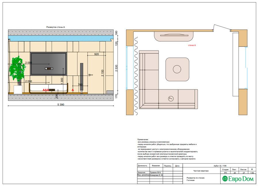 Дизайн 3-комнатной квартиры 193 кв. м в современном стиле. Фото 043