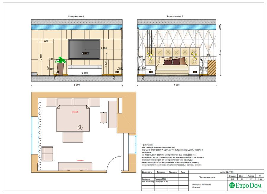 Дизайн 3-комнатной квартиры 193 кв. м в современном стиле. Фото 044