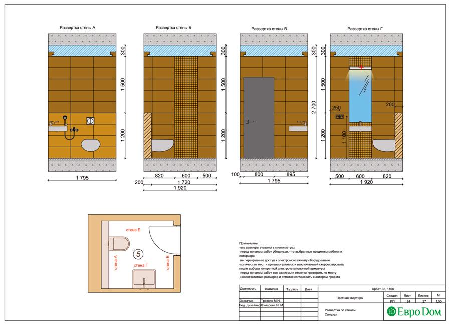 Дизайн 3-комнатной квартиры 193 кв. м в современном стиле. Фото 047