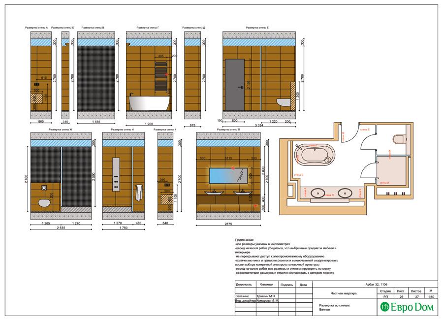 Дизайн 3-комнатной квартиры 193 кв. м в современном стиле. Фото 048
