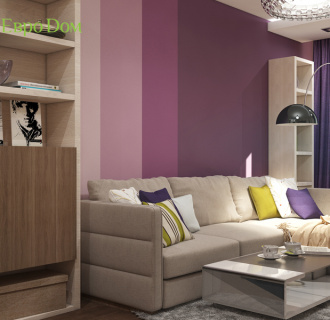 Дизайн трехкомнатной квартиры 67 кв. м в современном стиле. Фото проекта