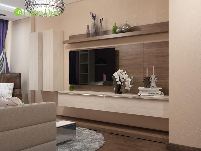 На фото: трехкомнатная квартира в современном стиле