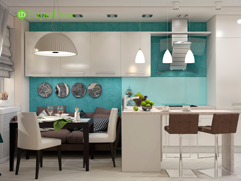 Дизайн трехкомнатной квартиры 67 кв. м в современном стиле. Фото 07