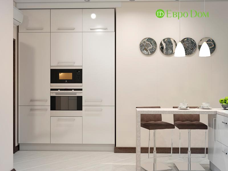 Дизайн трехкомнатной квартиры 67 кв. м в современном стиле. Фото 010