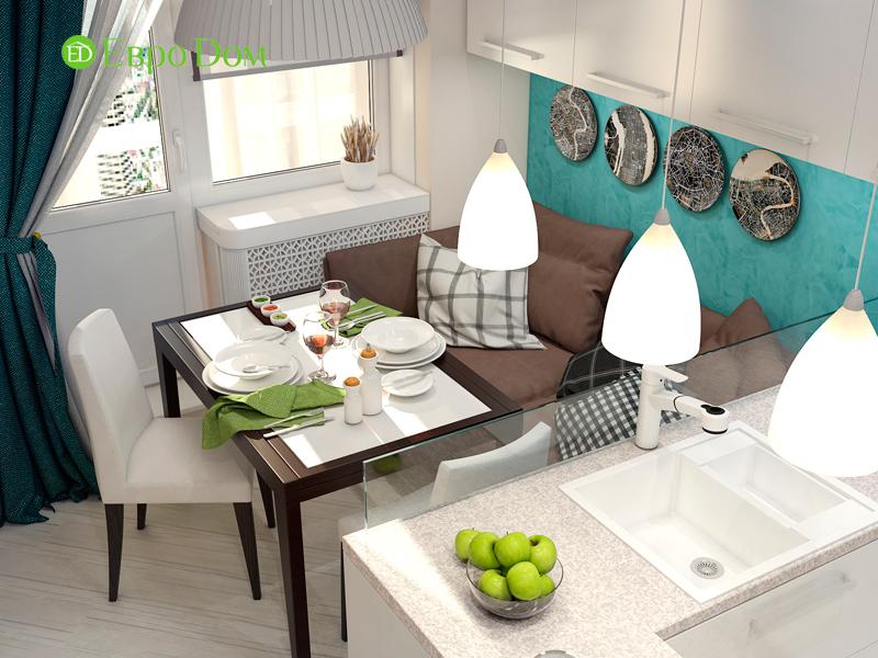 Дизайн трехкомнатной квартиры 67 кв. м в современном стиле. Фото 011