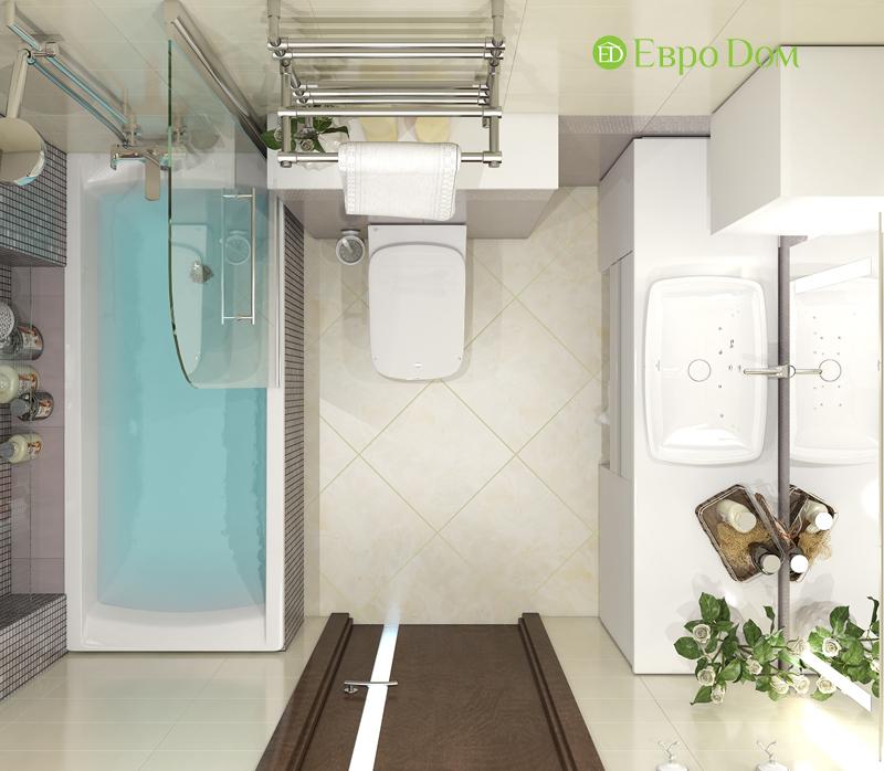 Дизайн трехкомнатной квартиры 67 кв. м в современном стиле. Фото 018