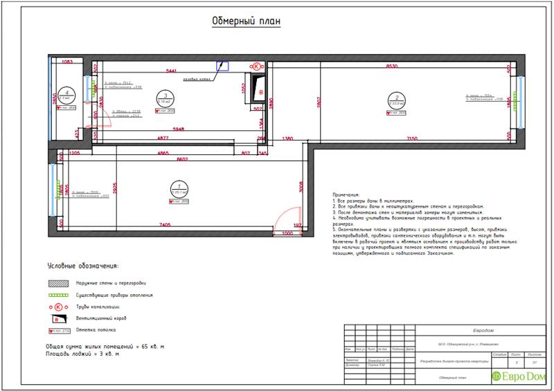 Дизайн трехкомнатной квартиры 67 кв. м в современном стиле. Фото 024