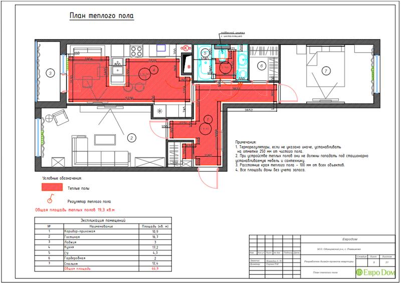 Дизайн трехкомнатной квартиры 67 кв. м в современном стиле. Фото 031