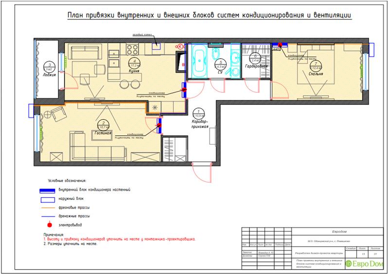 Дизайн трехкомнатной квартиры 67 кв. м в современном стиле. Фото 035