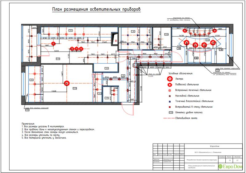 Дизайн трехкомнатной квартиры 67 кв. м в современном стиле. Фото 037
