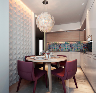 Дизайн трехкомнатной квартиры 108 кв. м в современном стиле. Фото проекта