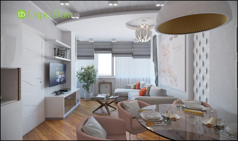 Дизайн трехкомнатной квартиры 87 кв. м в современном стиле. Фото 02