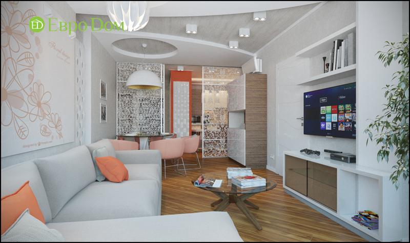Дизайн трехкомнатной квартиры 87 кв. м в современном стиле. Фото 03