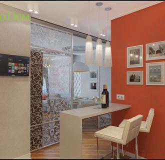 Дизайн трехкомнатной квартиры 87 кв. м в современном стиле. Фото проекта