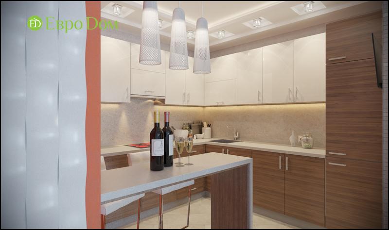 Дизайн трехкомнатной квартиры 87 кв. м в современном стиле. Фото 05