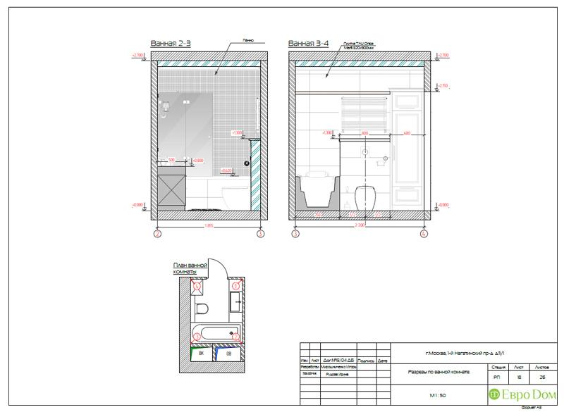 Дизайн трехкомнатной квартиры 87 кв. м в современном стиле. Фото 034