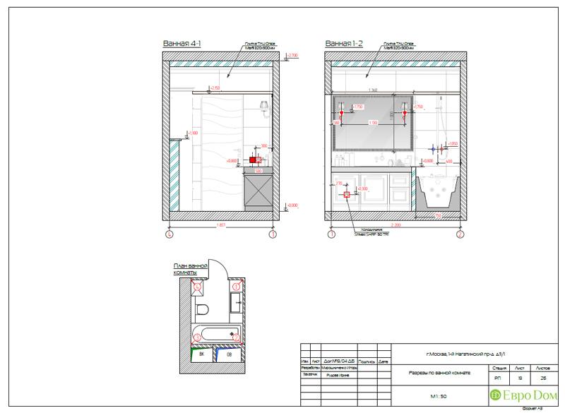 Дизайн трехкомнатной квартиры 87 кв. м в современном стиле. Фото 035