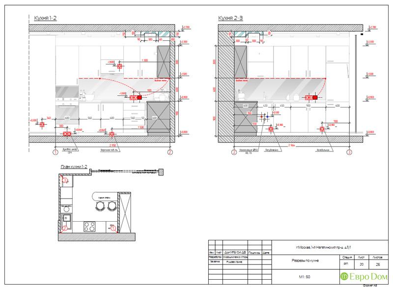 Дизайн трехкомнатной квартиры 87 кв. м в современном стиле. Фото 036