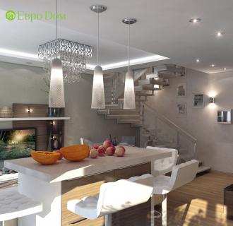 Дизайн трехкомнатной квартиры 78 кв. м в стиле контемпорари. Фото проекта
