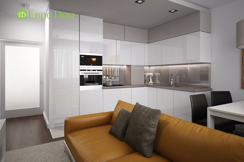 Дизайн 3-комнатной квартиры 76 м2 в стиле минимализм. Фото 03