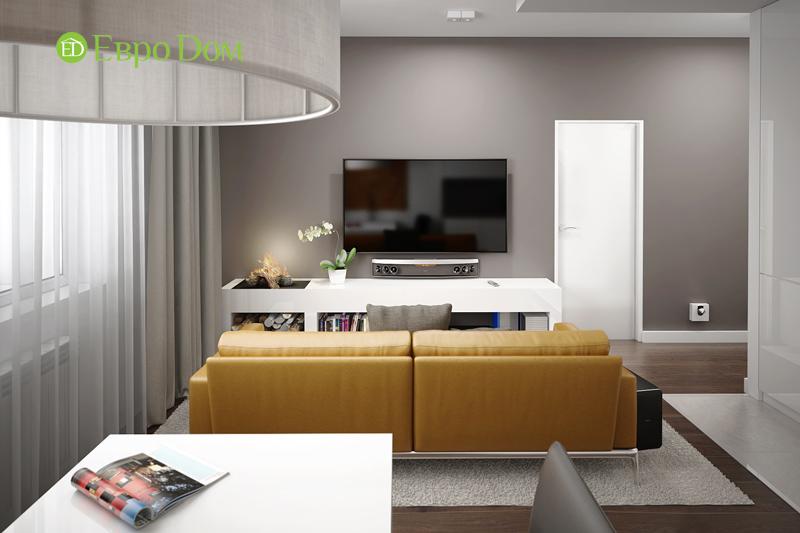 Дизайн 3-комнатной квартиры 76 м2 в стиле минимализм. Фото 04