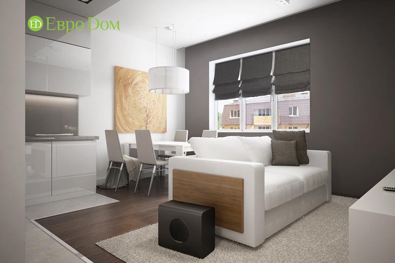 Дизайн 3-комнатной квартиры 76 м2 в стиле минимализм. Фото 05