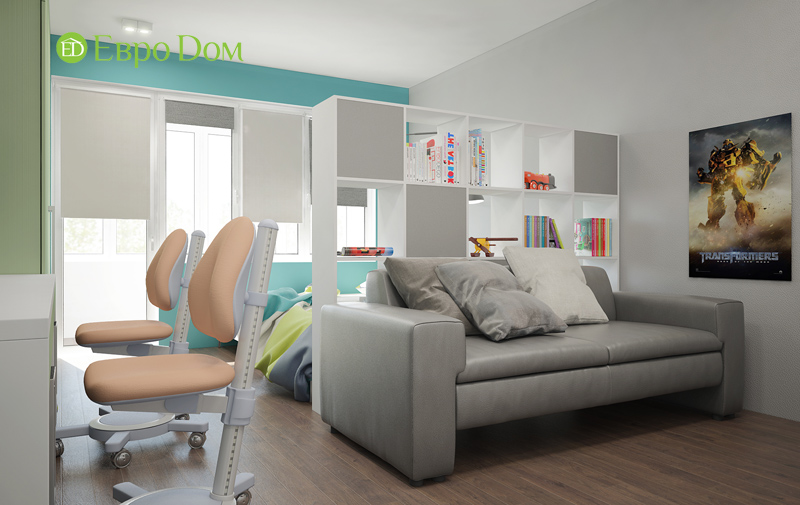 Дизайн 3-комнатной квартиры 76 м2 в стиле минимализм. Фото 08
