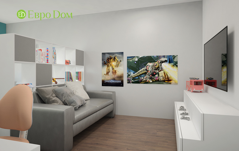 Дизайн 3-комнатной квартиры 76 м2 в стиле минимализм. Фото 010