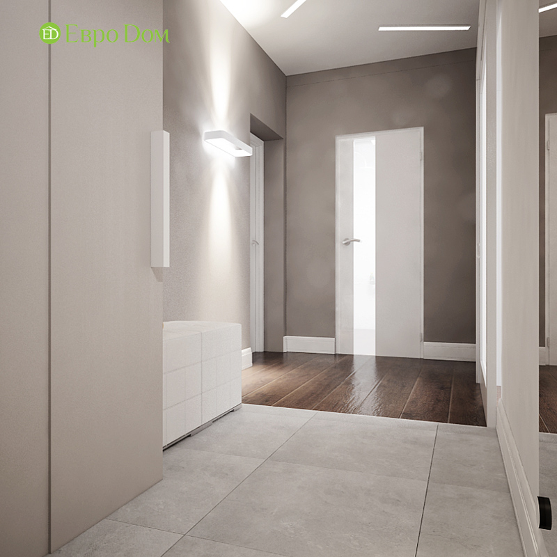 Дизайн 3-комнатной квартиры 76 м2 в стиле минимализм. Фото 014