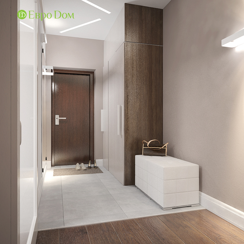 Дизайн 3-комнатной квартиры 76 м2 в стиле минимализм. Фото 015