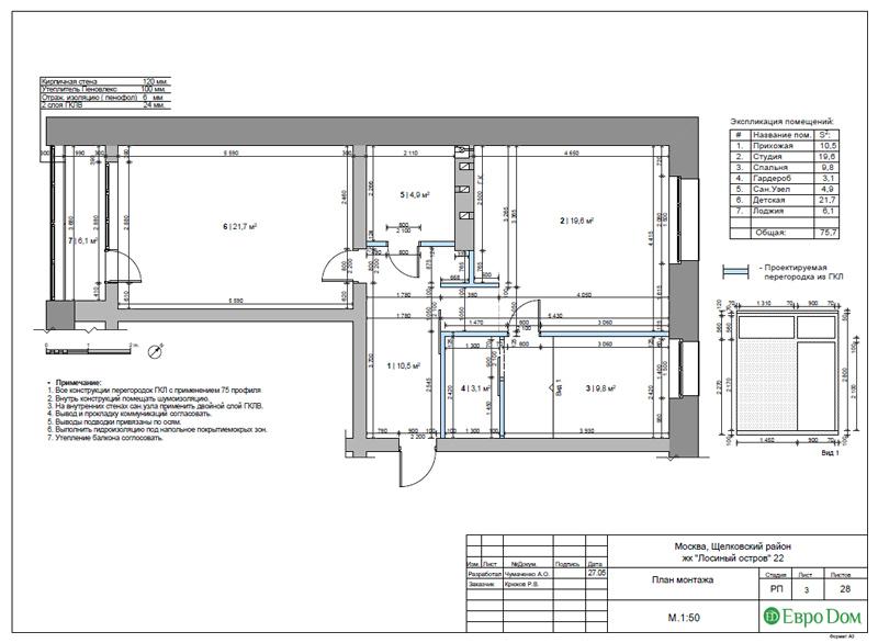 Дизайн 3-комнатной квартиры 76 м2 в стиле минимализм. Фото 026