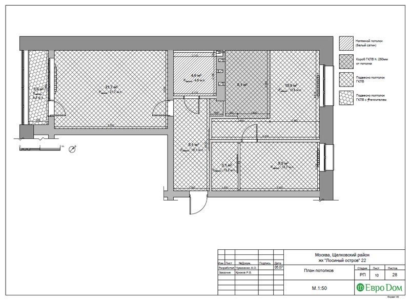 Дизайн 3-комнатной квартиры 76 м2 в стиле минимализм. Фото 033