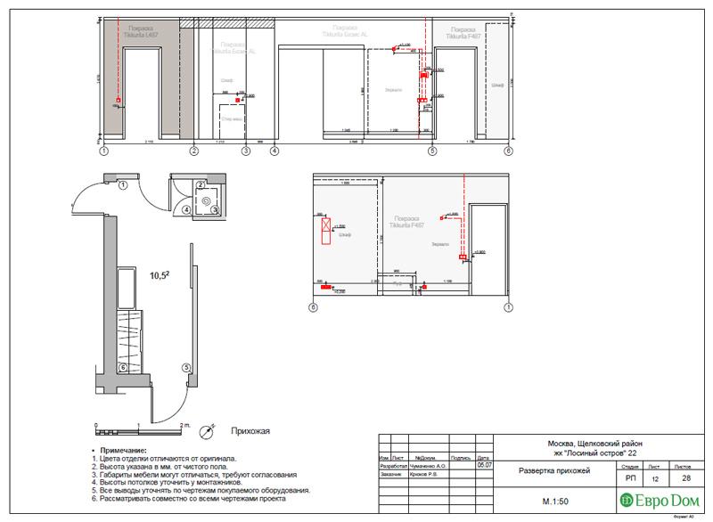 Дизайн 3-комнатной квартиры 76 м2 в стиле минимализм. Фото 035