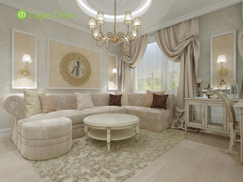 Дизайн трёхкомнатной квартиры 75 кв. м в стиле неоклассика. Фото 06