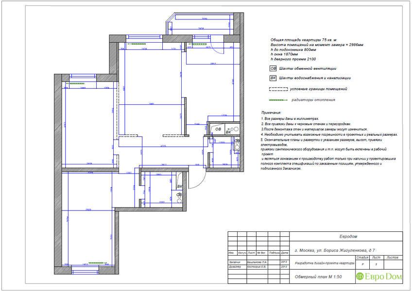 Дизайн трёхкомнатной квартиры 75 кв. м в стиле неоклассика. Фото 021