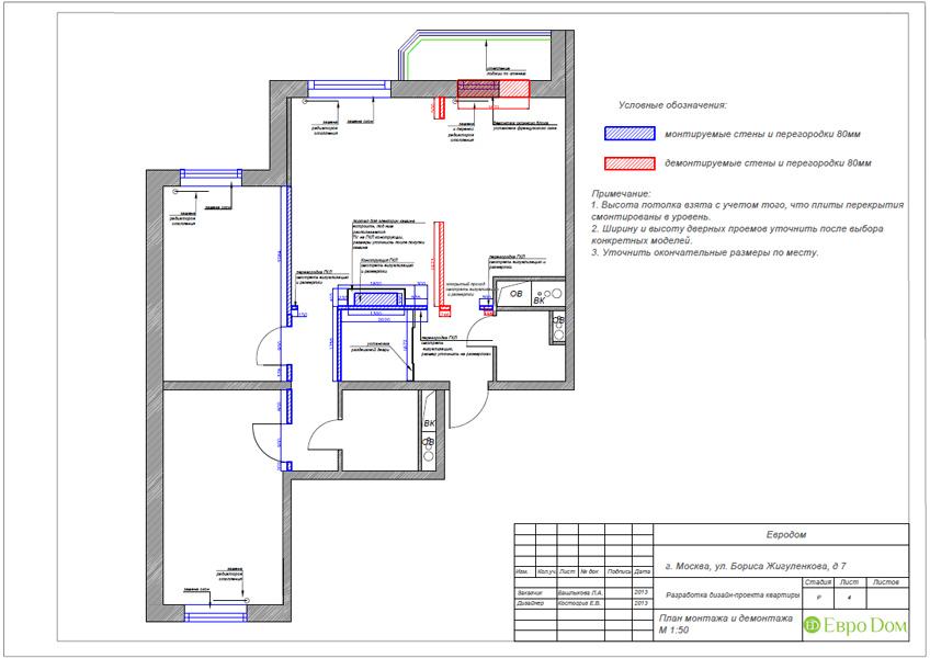 Дизайн трёхкомнатной квартиры 75 кв. м в стиле неоклассика. Фото 023