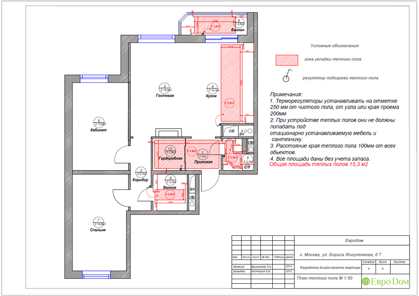 Дизайн трёхкомнатной квартиры 75 кв. м в стиле неоклассика. Фото 026