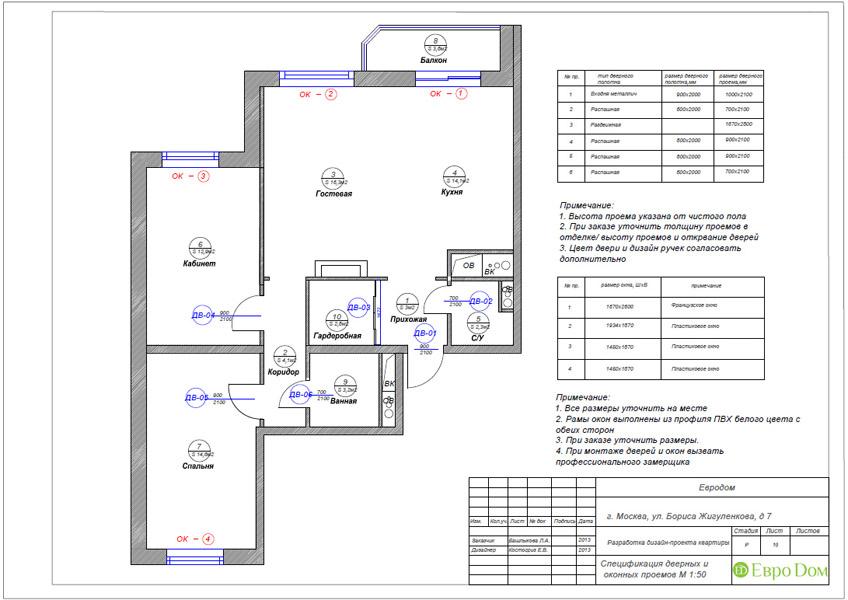Дизайн трёхкомнатной квартиры 75 кв. м в стиле неоклассика. Фото 028