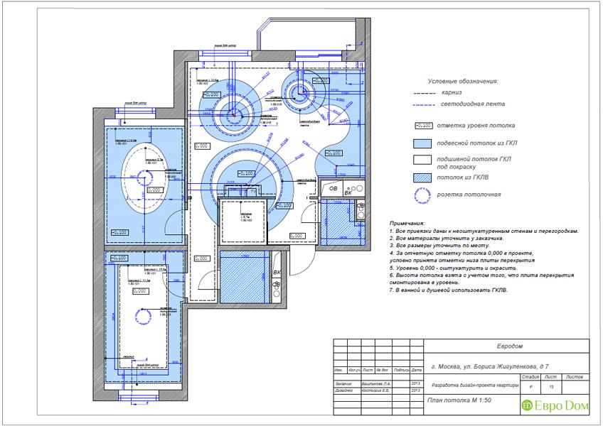 Дизайн трёхкомнатной квартиры 75 кв. м в стиле неоклассика. Фото 031