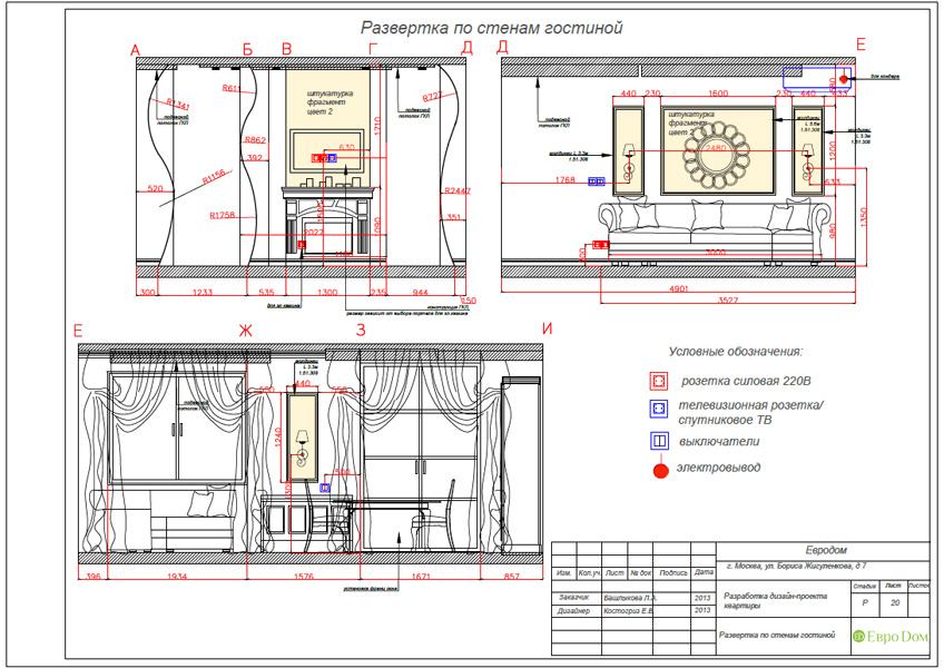 Дизайн трёхкомнатной квартиры 75 кв. м в стиле неоклассика. Фото 039