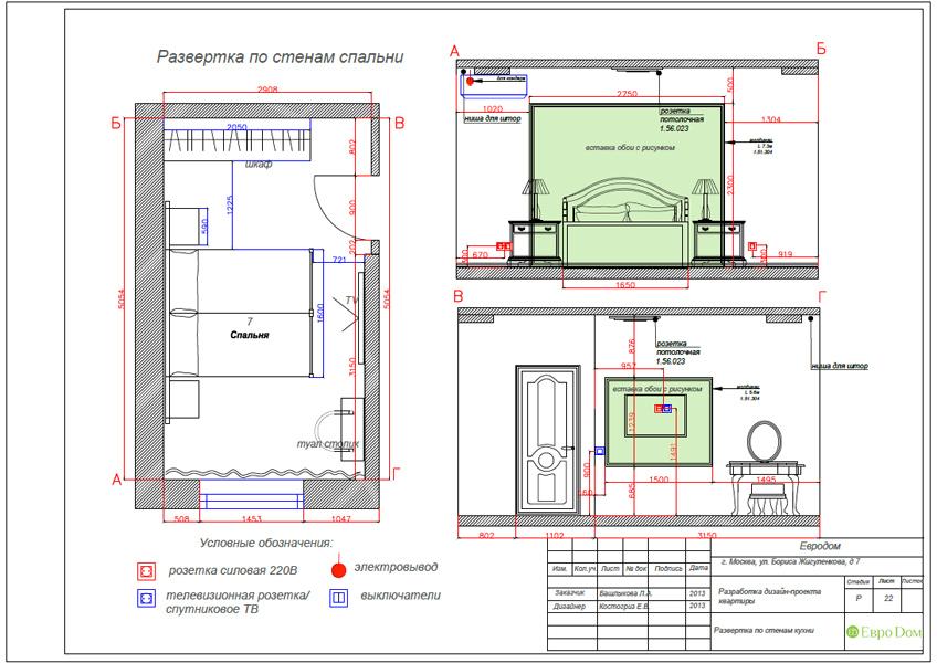 Дизайн трёхкомнатной квартиры 75 кв. м в стиле неоклассика. Фото 041
