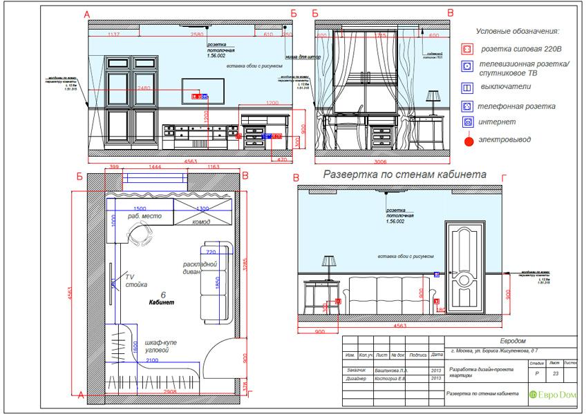 Дизайн трёхкомнатной квартиры 75 кв. м в стиле неоклассика. Фото 042