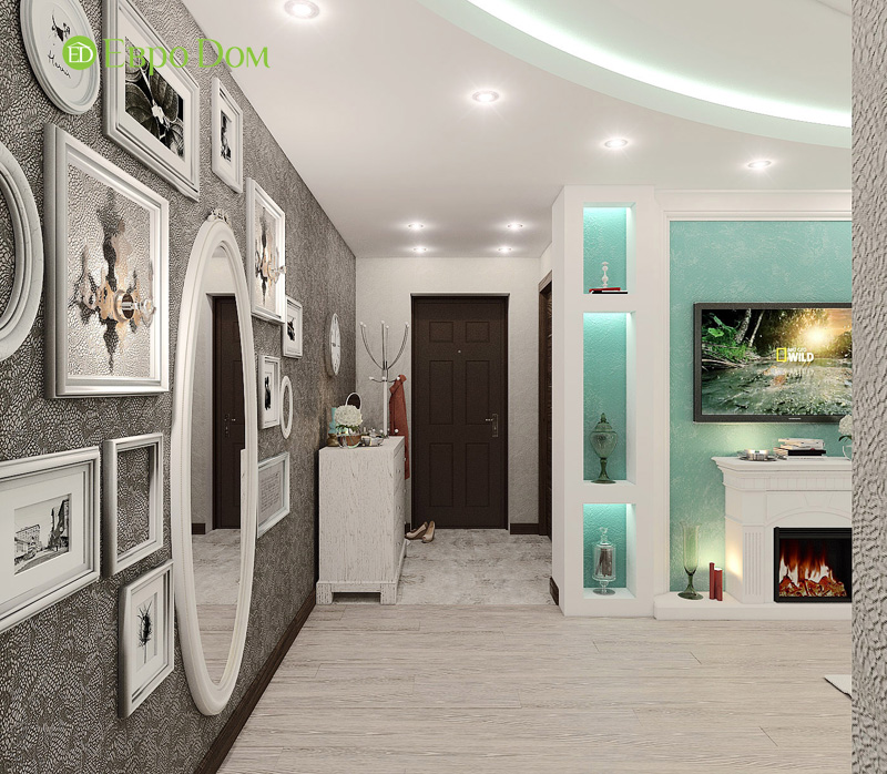 Дизайн 3-комнатной квартиры 76 кв. м в стиле тиффани. Фото 02