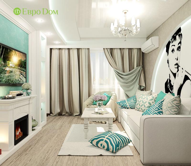 Дизайн 3-комнатной квартиры 76 кв. м в стиле тиффани. Фото 04