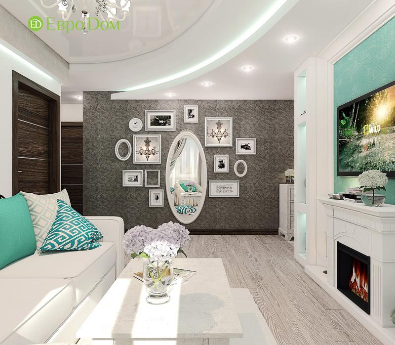 Дизайн 3-комнатной квартиры 76 кв. м в стиле тиффани. Фото 07