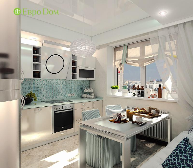 Дизайн 3-комнатной квартиры 76 кв. м в стиле тиффани. Фото 08