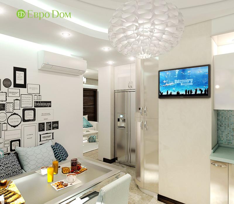 Дизайн 3-комнатной квартиры 76 кв. м в стиле тиффани. Фото 09