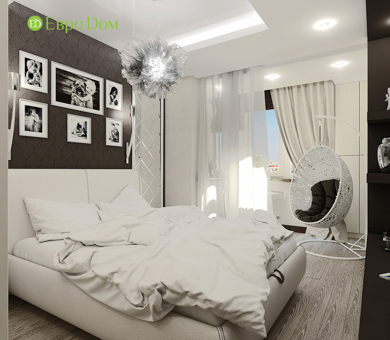 Дизайн 3-комнатной квартиры 76 кв. м в стиле тиффани. Фото 013