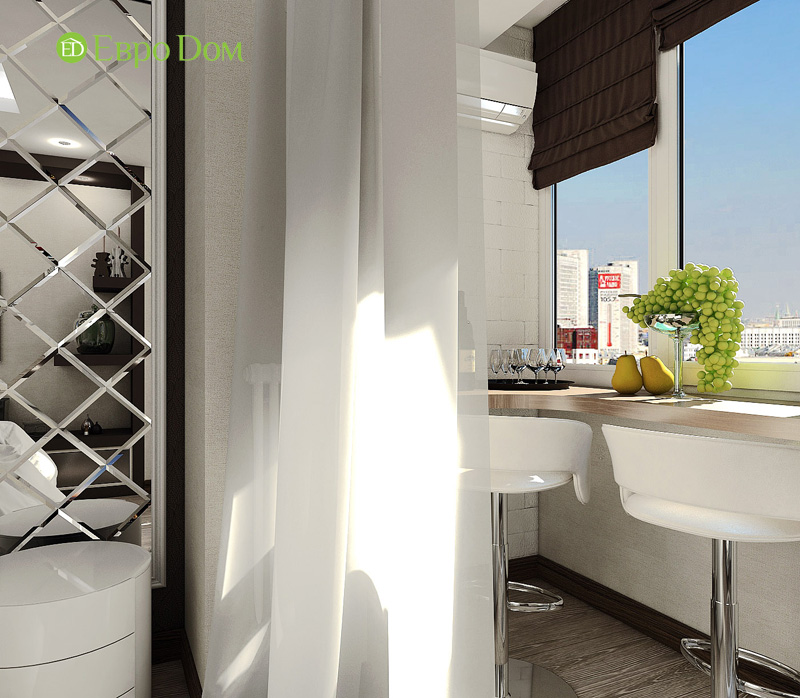 Дизайн 3-комнатной квартиры 76 кв. м в стиле тиффани. Фото 019