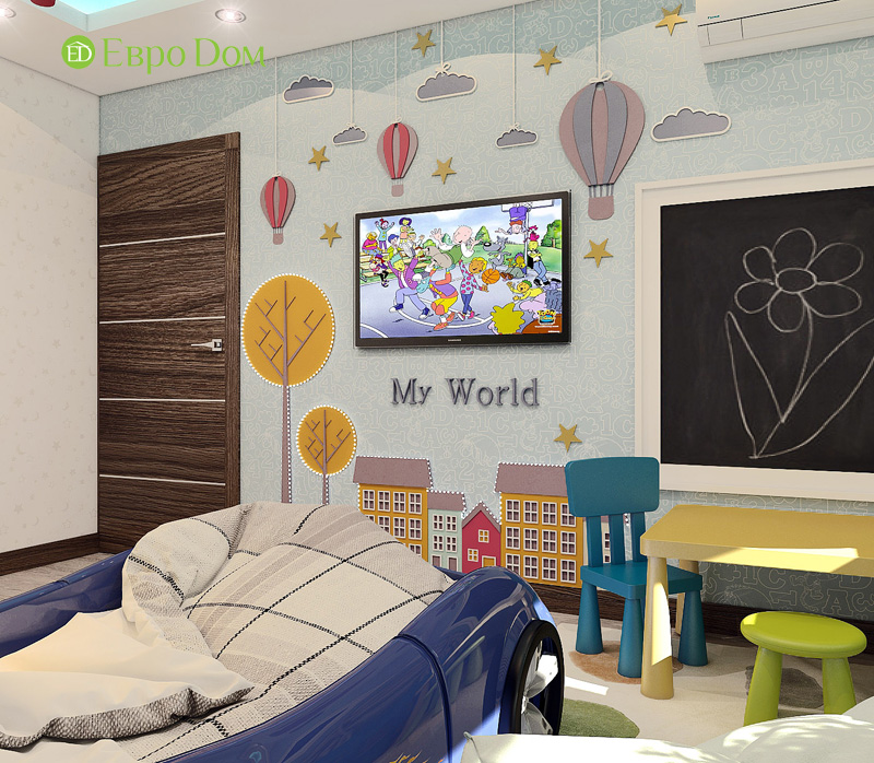 Дизайн 3-комнатной квартиры 76 кв. м в стиле тиффани. Фото 022